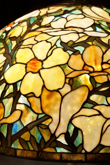 LAMPA WITRAŻOWA STOJĄCA | Magnolia Wielka II witrażowa