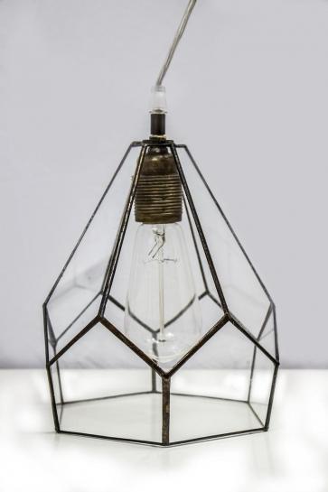 LAMPA INDUSTRIALNA | Diament witrażowa