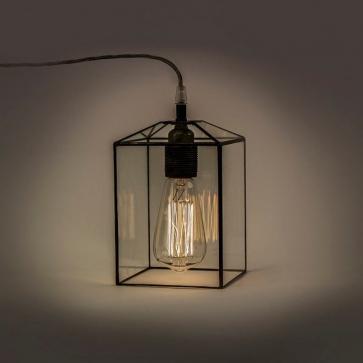 LAMPA INDUSTRIALNA | Kwadrat witrażowa