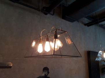 LAMPA INDUSTRIALNA | Snuuker witrażowa