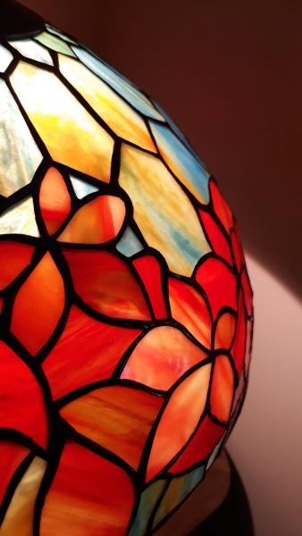 LAMPA TIFFANY | Woodbine - Opal witrażowa