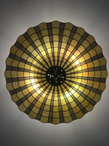 PLAFON WITRAŻOWY | Dzwon szare promienie witrażowa