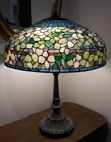 LAMPA TIFFANY | Dogwood Wielki ⌀ 56 cm witrażowa