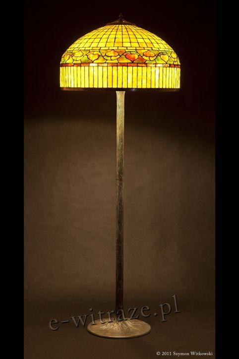 lampa witrażowa tiffany - Złota kopuła