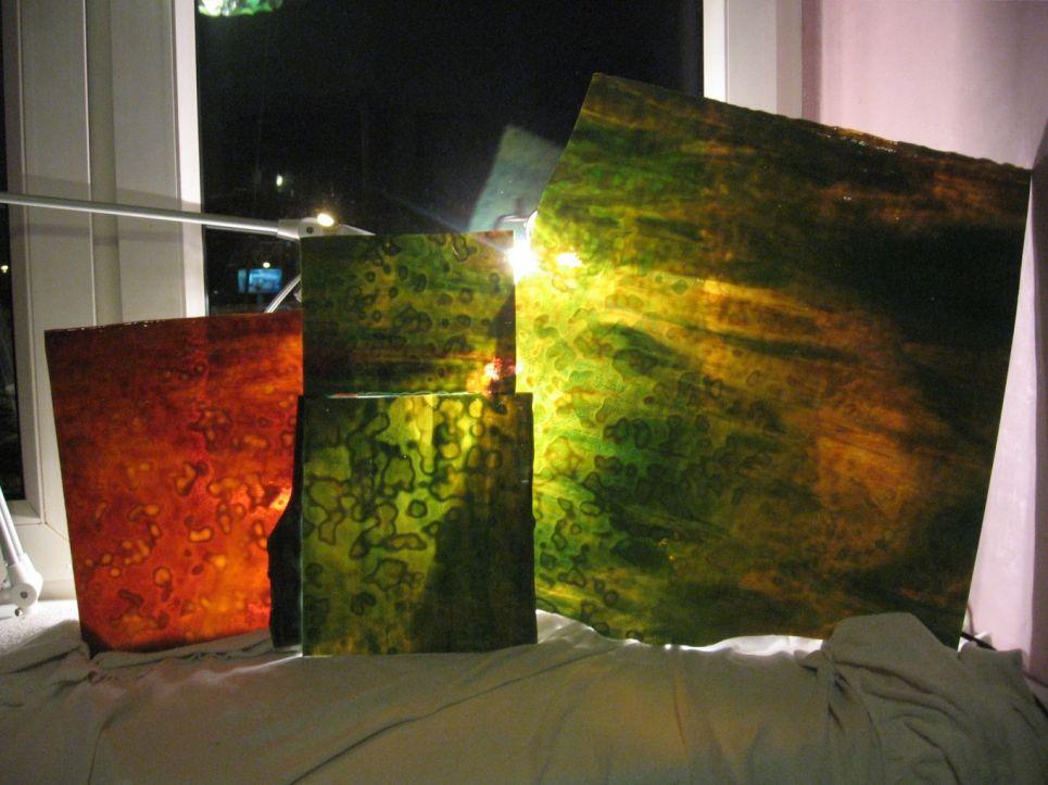lampa witrażowa - Hydrangea