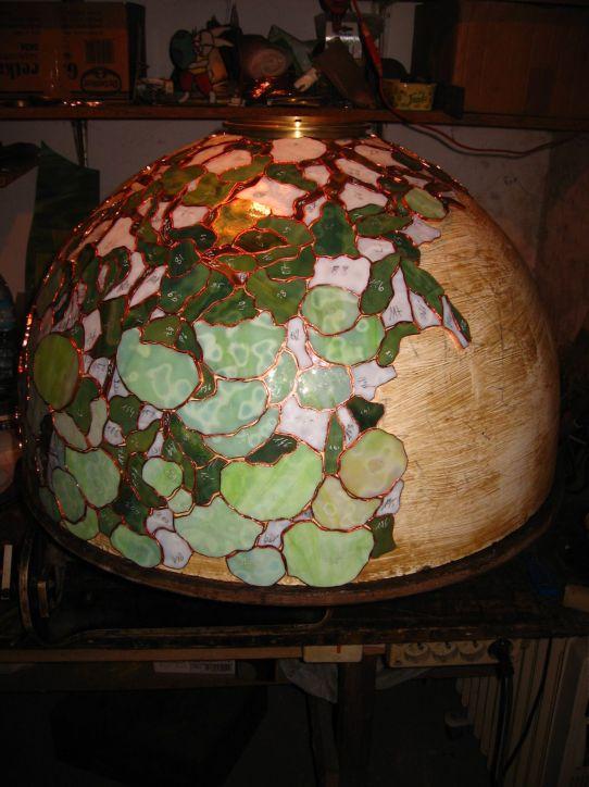 lampy witrażowe - Hydrangea