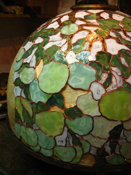 lampy witrazowe - Hydrangea